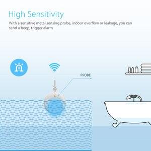 Image 3 - Ome assistente alarme inteligente sensor de água wi fi casa inteligente inundação água wi fi detector vazamento alarme sensor pk para xiaomi casa inteligente