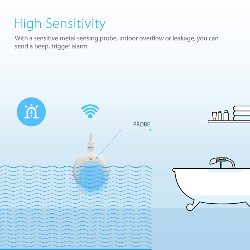 Image 3 - ome assistant alarm Smart Water Sensor WiFi smart home Water Flood WiFi Leak Detector Alarm Sensor PK for xiaomi smart home-in Smart Remote Control from Consumer Electronics