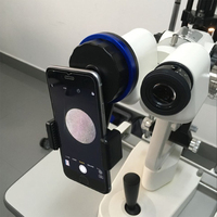 Adaptador plástico do smartphone do microscópio lphone da lâmpada da fenda