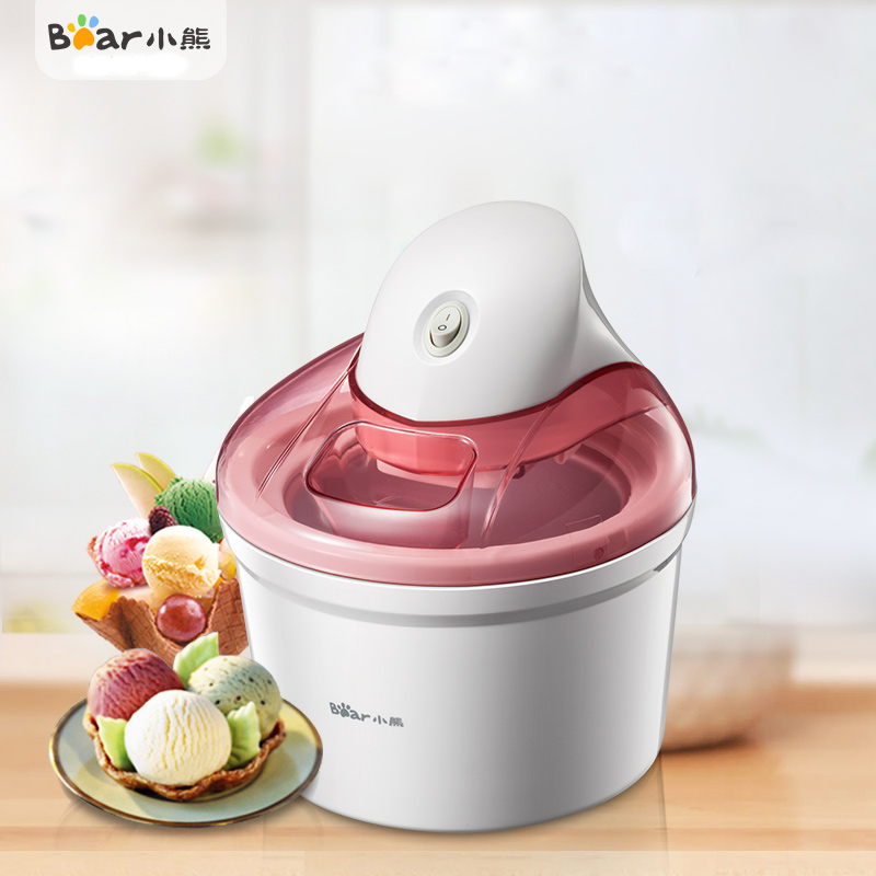 Bear BQL-A12G1 Ice Cream Machine Home Automatic Fruit Automatic Diy Double Layer of Ice 1.2L Capacity fully automatic diy fruit ice cream machine silver black