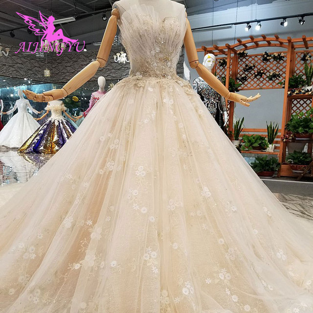 AIJINGYU engagement The Bride Dresses Gothic Wedding Korean Store Real Photo Belarus For Sale Gown Outlet White New Gown