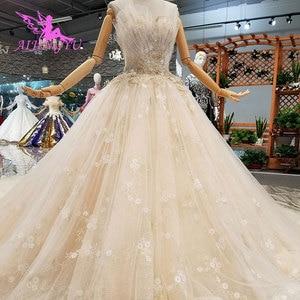 Image 1 - AIJINGYU אירוסין הכלה שמלות גותי חתונה קוריאני חנות אמיתי תמונה בלארוס למכירה שמלת Outlet לבן חדש שמלה