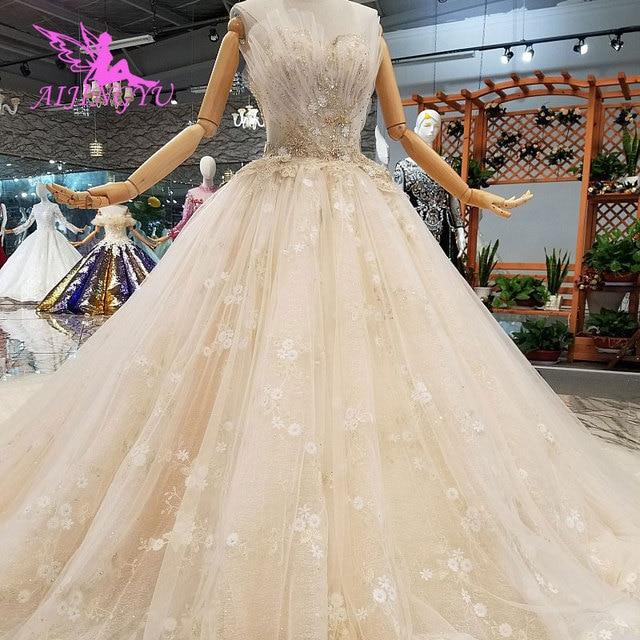 AIJINGYU אירוסין הכלה שמלות גותי חתונה קוריאני חנות אמיתי תמונה בלארוס למכירה שמלת Outlet לבן חדש שמלה
