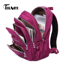 TEGAOTE School Backpack for Teenage Girls Mochila Feminina Escolar Women Backpacks Nylon Casual Laptop Bagpack Female Sac A Dos(China)