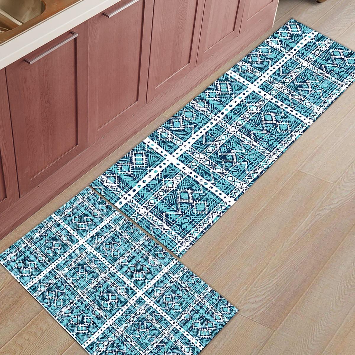 Tapis de cuisine moderne maroc géométrique 2 pièces chaussures de démarrage grattoir accessoire ensembles tapis de sol zone de coco naturelle coureurs tapis d'accent