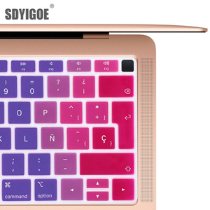 EU-Enter Spanish or Chile Keyboard case Protector for macbook air 13 keyboard cover spanish Model A1932 Silicone protective film