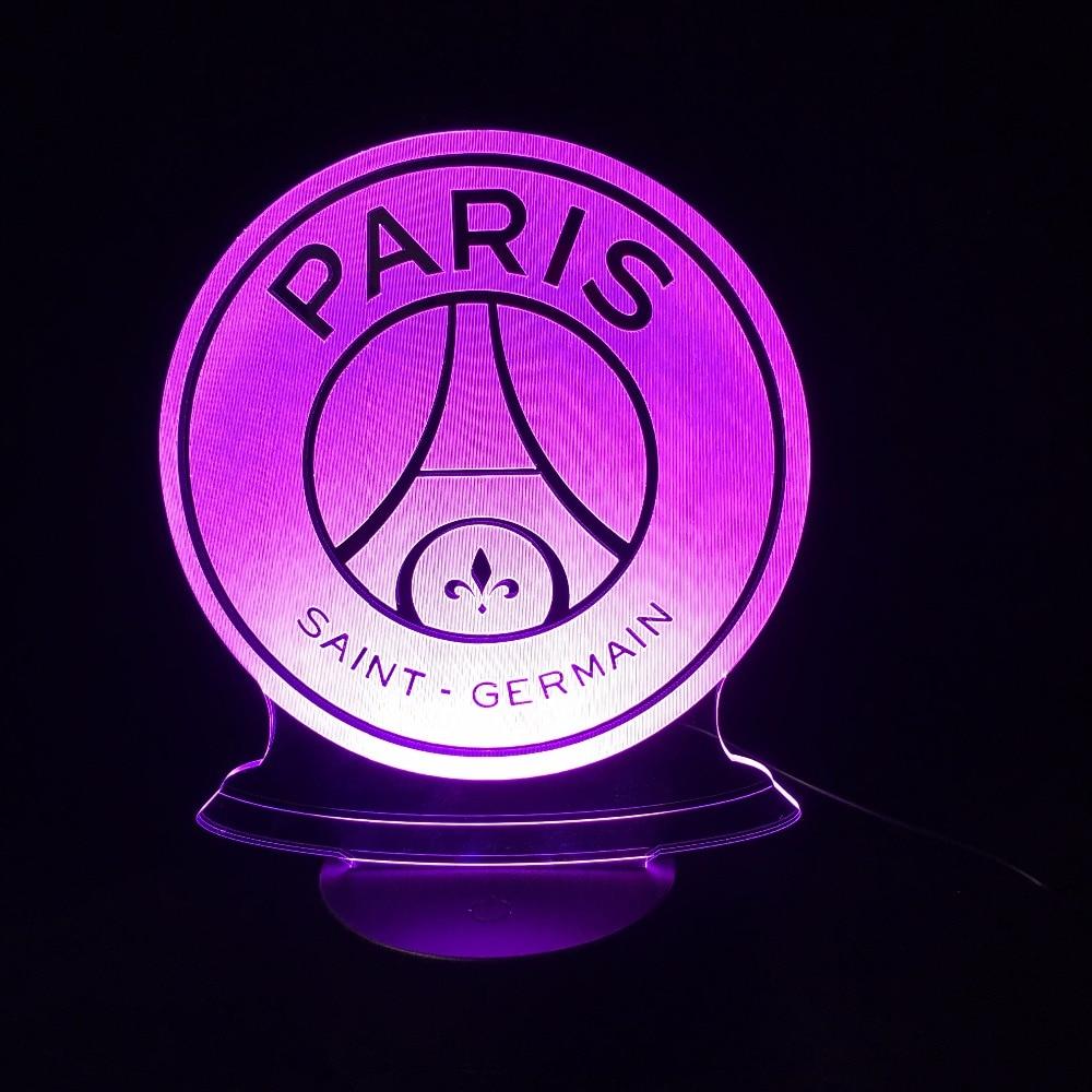 3D LED Lampe Fußball Football Club 3D Bunte Night Lights mit Basis Neuheit Luminaria Drop Ship