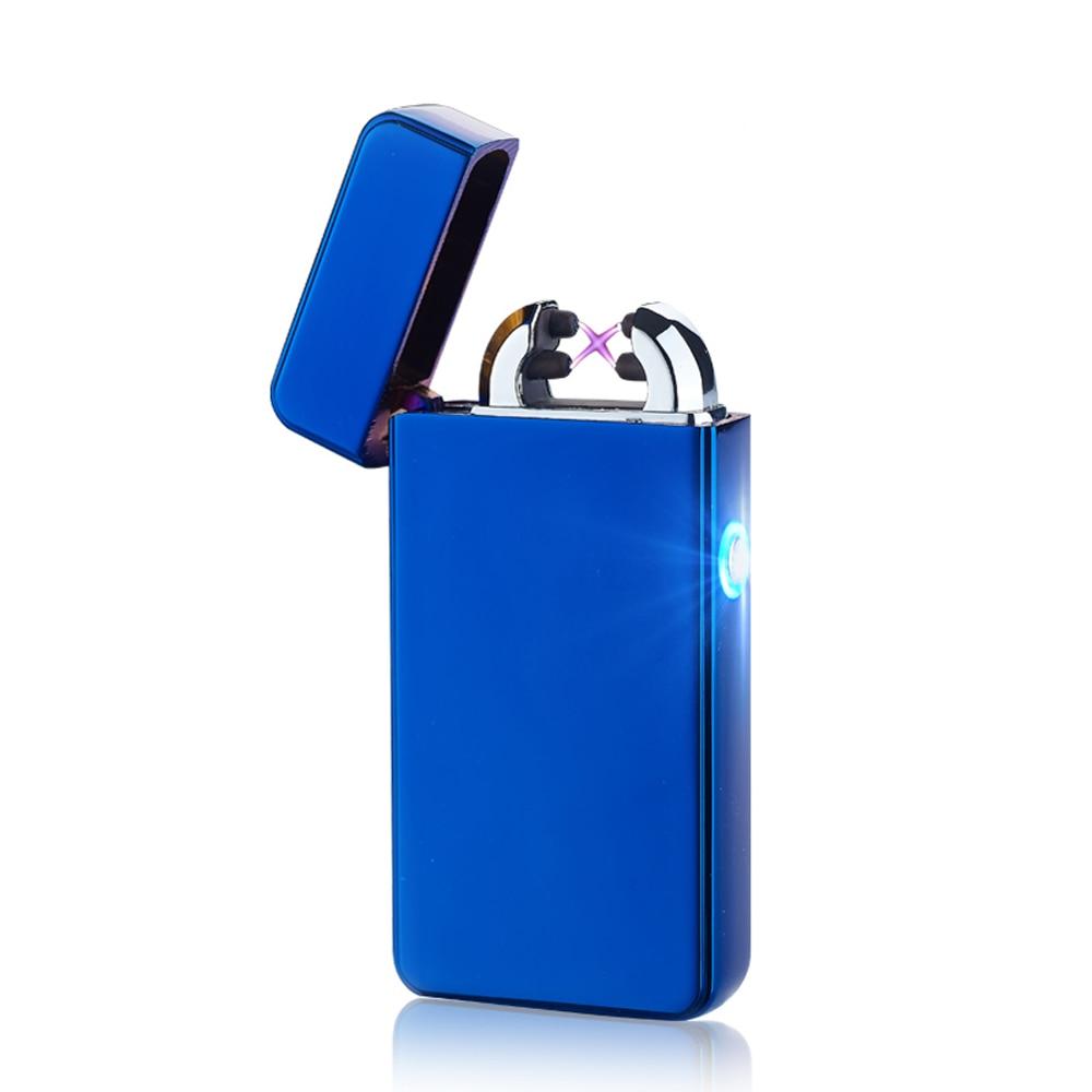 Metalen winddichte aansteker Elektrische puls Dubbele aansteker - Huishouden
