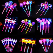 Creative LED Luminous Glow Stick Night Colorful Light Lamp Flash Cartoon Party Decoration Projection Toys Gifts For Children Kid(China)