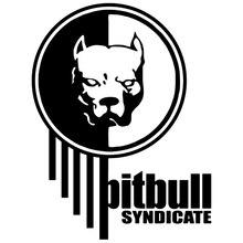 CS-517#20*15cm Pitbull lo o sticker funny car and decal silver/black vinyl auto stickers