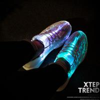 UncleJerry Size 25 46 New Summer Led Fiber Optic Shoes for girls boys men women USB Recharge glowing Sneakers Man light up shoes