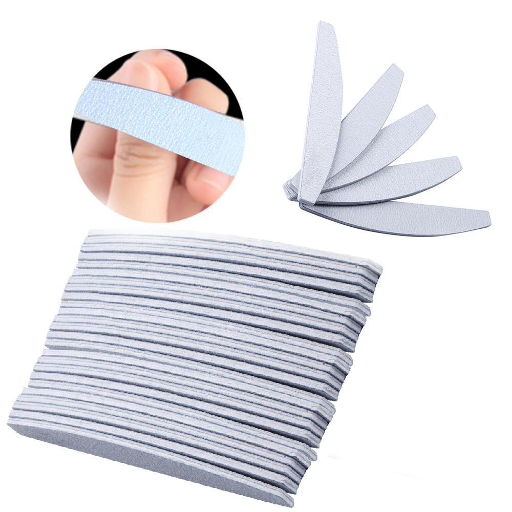 50pcs Nail Files Buffer for Gel Varnish Cuticle Remover 100/180 Trimmer lime a ongle Buffers Set Manicure Sanding File Nail Art 5pcs stone nail file nail art tools cuticle remover trimmer buffer pedicure manicure files