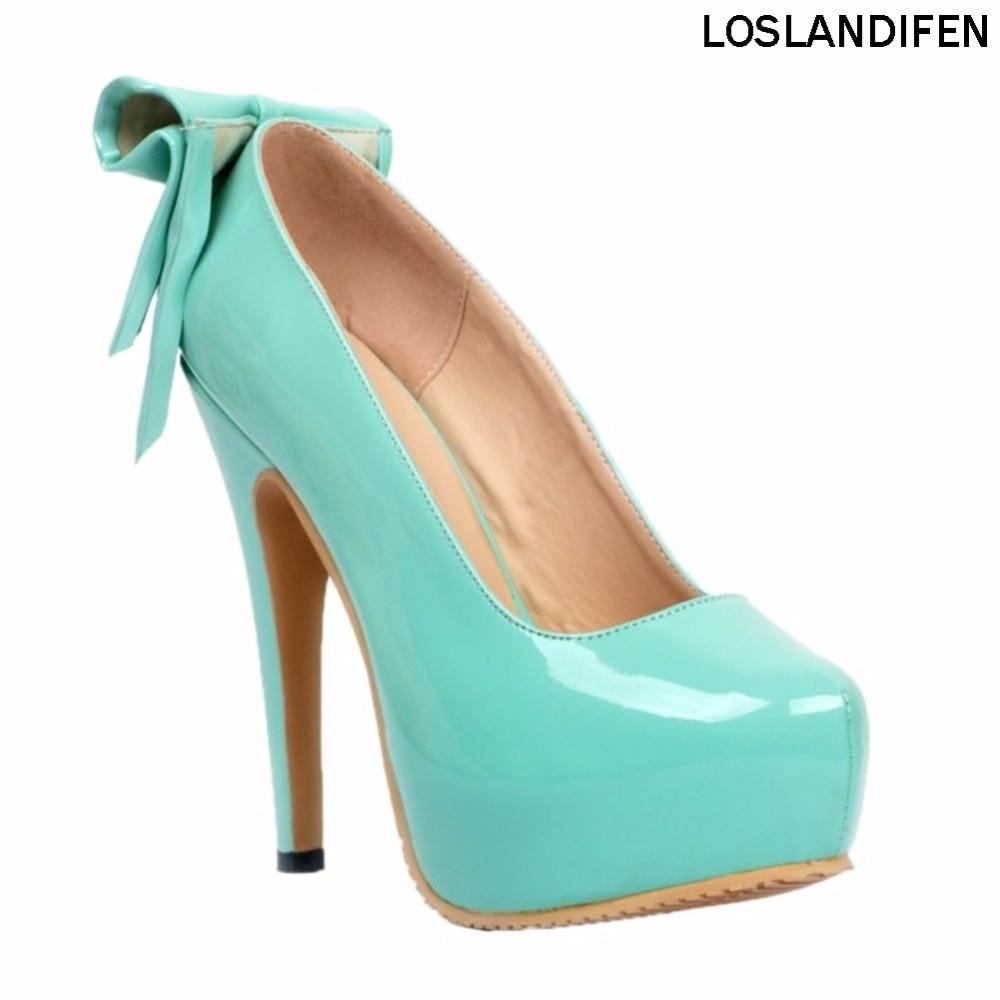 المرأة الأزياء اليدوية 14.5 سنتيمتر منصة عالية الكعب حجم كبير حفلة موسيقية مضخات أحذية XD005