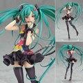 Anime Aproximadamente 21 cm Contar Sua Versão Mundo Estatueta Hatsune Miku PVC Action Figure Modelo Brinquedos Caçoa o Presente Frete Grátis