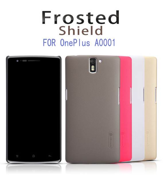 10pcs/lot Wholesale NILLKIN Super Frosted Shield Case For OnePlus A0001 With Screen Protector Free Shipping