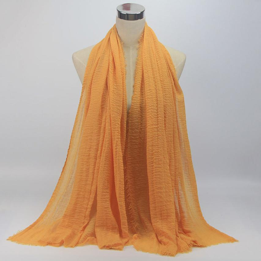 1PC Premium Viscose Maxi Crinkle Cloud Hijab Scarf Solid Soft Islam Muslim 9