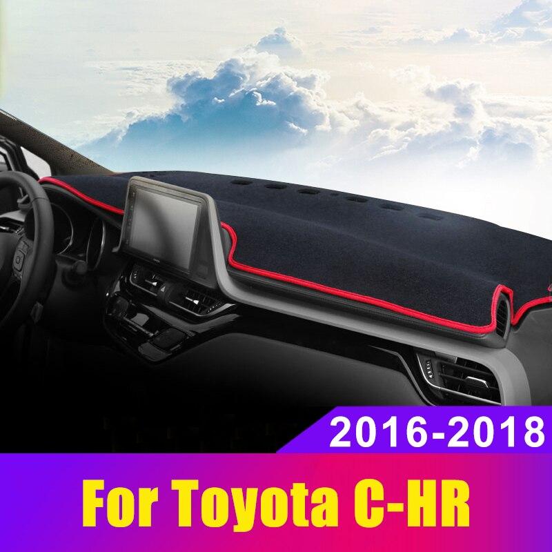 Car Dashboard Cover Dash Mat Sun Shad Pad Carpets Trim ANti-UV NON-Slip For Toyota CHR C HR C-HR 2016 2017 2018 2019 Accessories