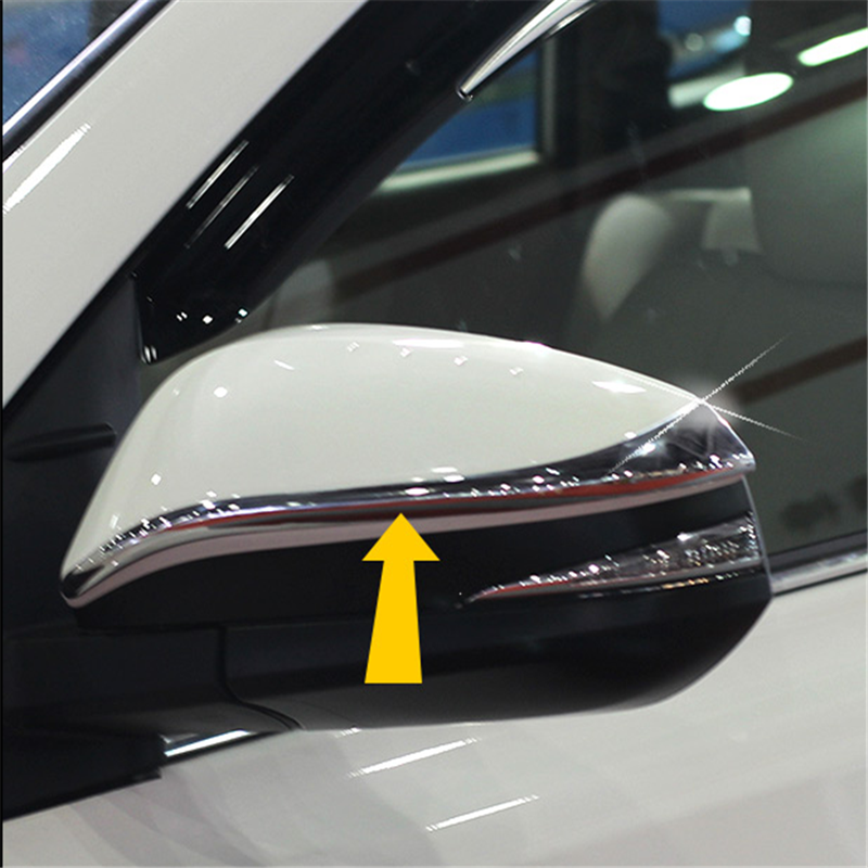 For 2014 2015 Toyota Highlander Kluger XU50 ABS Chrome Side Door Mirror Rear View Cover Trim Molding Protector Exterior Trims