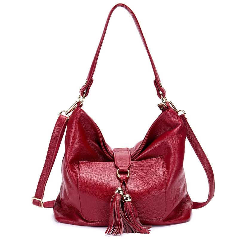 New 2017 Hobos women genuine leather handbags famous shoulder bags women designers brands bag vintage cowhide tote bags 2016 new hobos 100