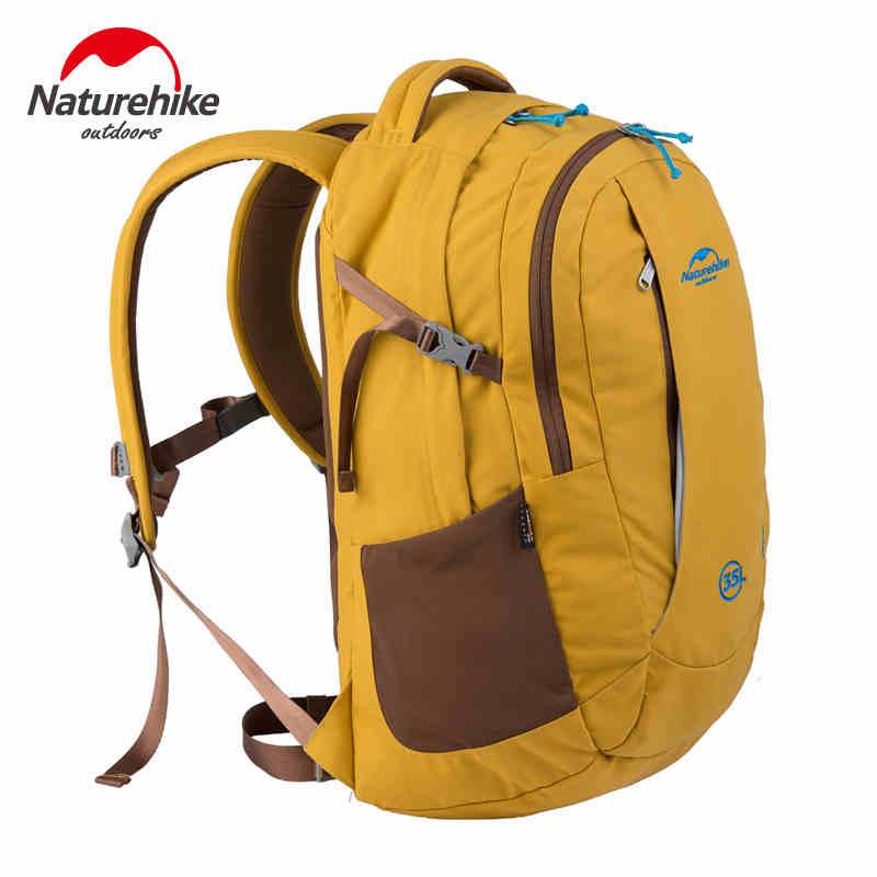Sac à dos extérieur Softback Nylon imperméable résistant à l'usure sacs à dos légers pochette d'ordinateur coloré escalade voyage 35L