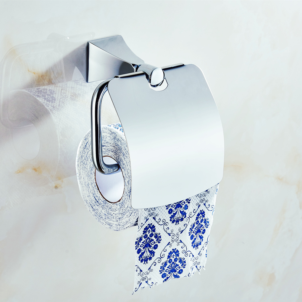 Luxury Stainless Steel Paper Box Roll Holder Bathroom Accessories Toilet Paper Holder Creative Wall Mounted Roll Tissue Holder stainless steel toilet tissue roll box wall mounted bathroom paper holder sturdy practical and user friendly