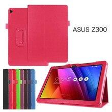 """Para Asus ZenPad 10/Z300 Z300C Z300CL Z300CG Z300M 10.1 """"pulgadas Tableta Caso 360 Rotación Del Tirón Del Soporte Cubierta De Cuero de Moda"""