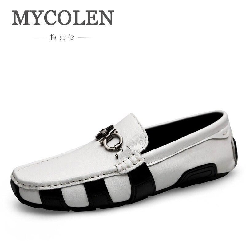 Mode Loafers Mycolen Material none Männer Lining Müßiggänger Schuhe Mens on lining Leder Slip auf Herren Driving Material Komfortable none Marke Echtes Slip w8yUr8xXTq