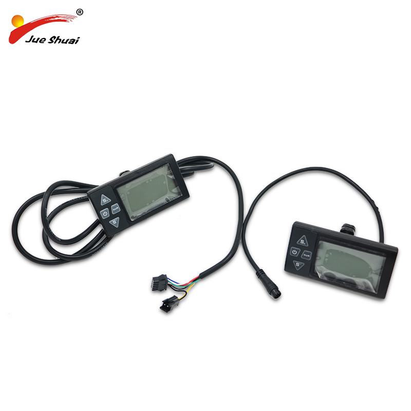 JS Bike Computer Electric Bicycle LCD Display For 24V 36V 48V Electric Bike Manual Control Panel Rainproof Bicycle Speedometer