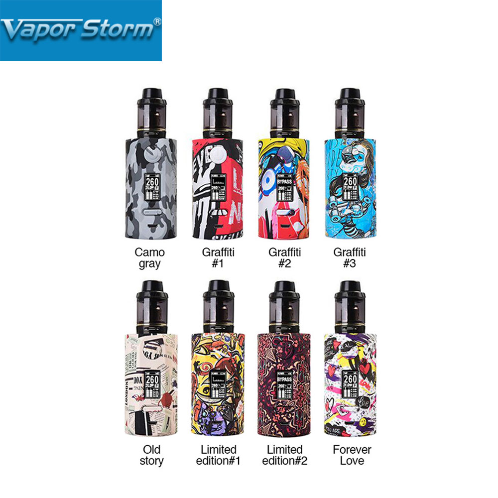 Vapor Storm Storm 230 TC Kit Original Electronic Cigarette with Hawk Tank 2ml 200W Max Output