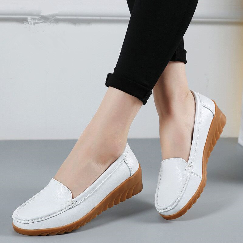 2019 Women Flats Shoes Genuine Leather