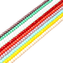 LanLi 4/6/8mm multicolor faceted jades expected glass Abacus bead spacers Loose Beads DIY bracelet necklace ear stud Accessories