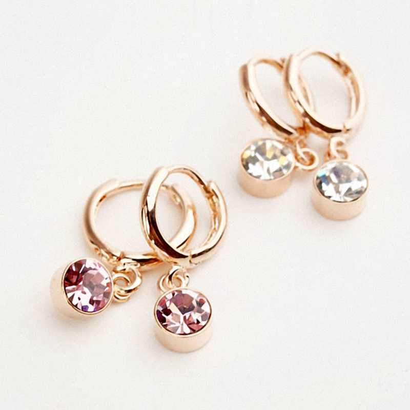 DAN'S ELEMENT Big Brand New Sale Hot Fashion AAA Cubit Zirconia Round Drop Earring For Women #RG85123