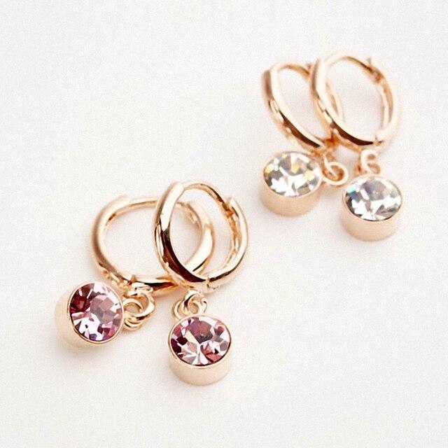 DAN'S ELEMENT Big Brand New Sale Hot Fashion AAA Cubit Zirconia Round Drop Earri