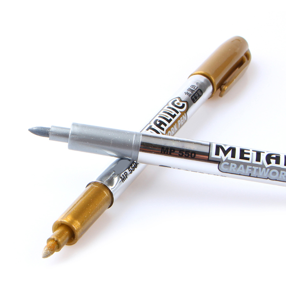 Ölfarbe Stift Markierungsstift Metall Farbe Gold und Silber 1,5mm Up - Kugelschreiber, Bleistifte und Schreibutensilien - Foto 3