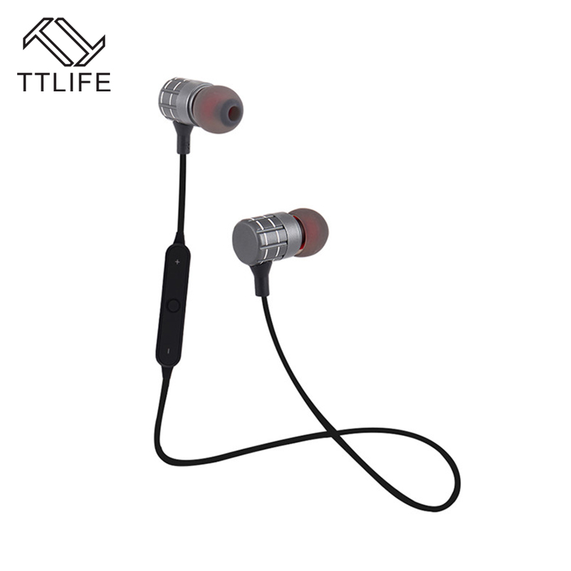 TTLIFE Sport Bluetooth CSR 4.1 Wireless Earphone Sweatproof Noise Cancelling Bass In-ear Headset With Mic for Xiaomi Phones huast v4 1 sport bluetooth earphone with mic wireless headphones bluetooth headset magnet earbuds for phone noise cancelling