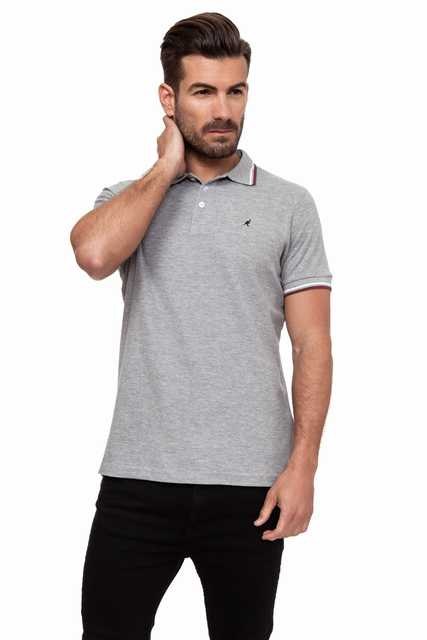 Kangol men   Polo   Manga Corta Carter Color Greys Marl