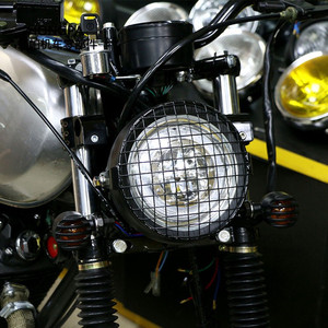 Image 5 - Motorcycle LED Headlight Hi&Lo HeadLamp Bulb With Angel Ring for Harley Sportster Cafe Racer Bobbe