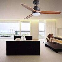 Frequency conversion ceiling fan wooden ceiling fan light Decorative Ceiling Light Fan Lamp 220V 42/52/60 inch