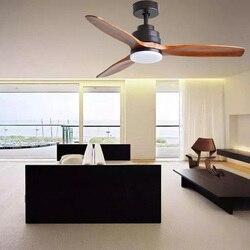 Konwersja częstotliwości wentylator sufitowy drewniane wentylator sufitowy z lampą dekoracyjne oświetlenie sufitowe żyrandol z wentylatorem 220V 42/52/60 cal