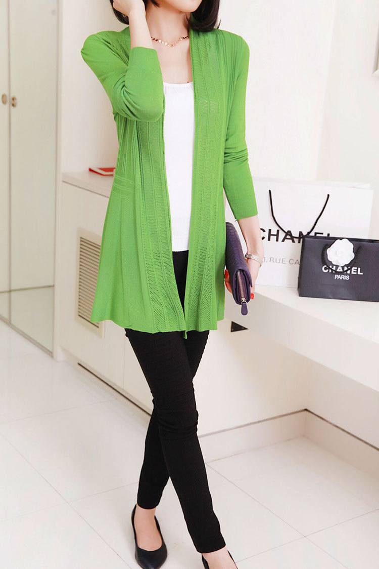 Sweater Women Spring Solid Color Large Size Slim Long Knitted ...