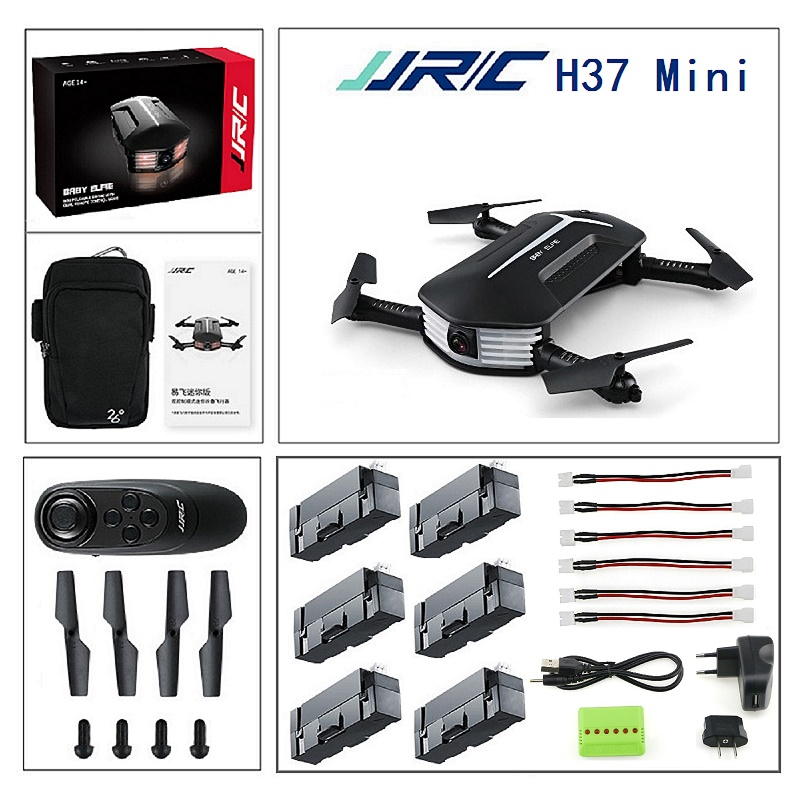 JJRC H37MINI H37 mini Baby ELFIE Beauty Mode WIFI FPV 2MP Camera foldable Drone Altitude Hold G-sensor RC Quadcopter jjrc h12wh wifi fpv with 2mp camera headless mode air press altitude hold rc quadcopter rtf 2 4ghz