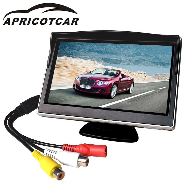 US $16 76 21% OFF|Manufacturers Direct Sales of Auto Part Standard Auto Sun  Shading Cover 5 Inch LCD Monitor Reversing Monitoring Two Way AV Input-in