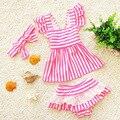 Crianças maiô separado crianças menina swimwear maiô para crianças baby girl biquíni meninas da criança trajes de banho tankini
