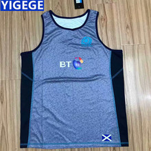 ca9f7898e41 YIGEGE Scotland RUGBY 2018 TRAINING SINGLET 2018 2019 new Scotland RUBGY  JERSEYS Men Football Shirt /