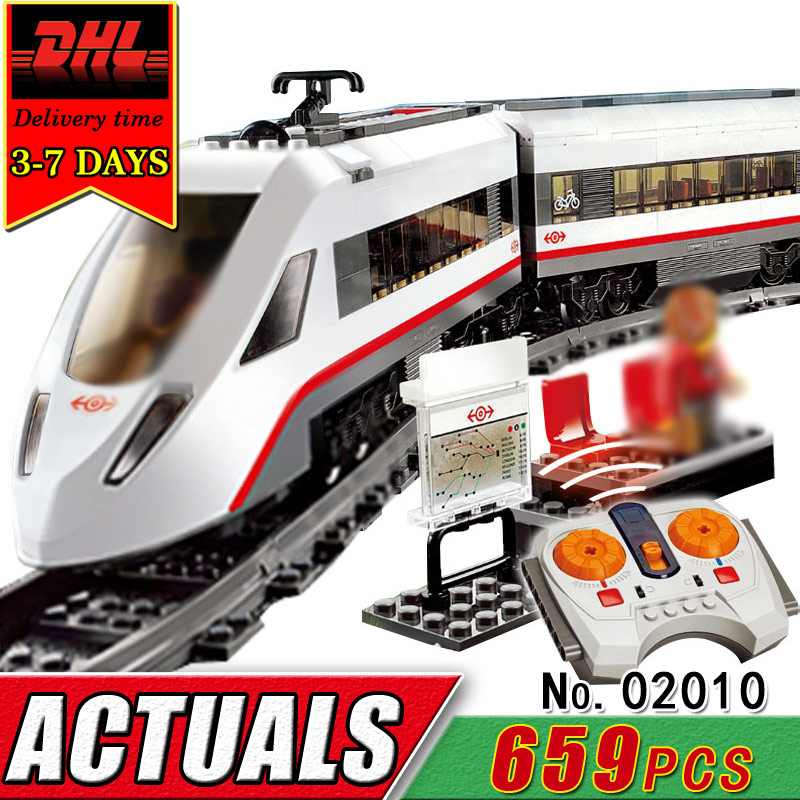 DHL LEPIN 02010 Electric RC Car Building Blocks Set Compatible Brick Remote Control Track Train Educational Toy For Children Kid
