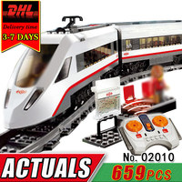 DHL LEPIN 02010 Electric RC Car Building Blocks Set Compatible Brick Remote Control Track Train Educational