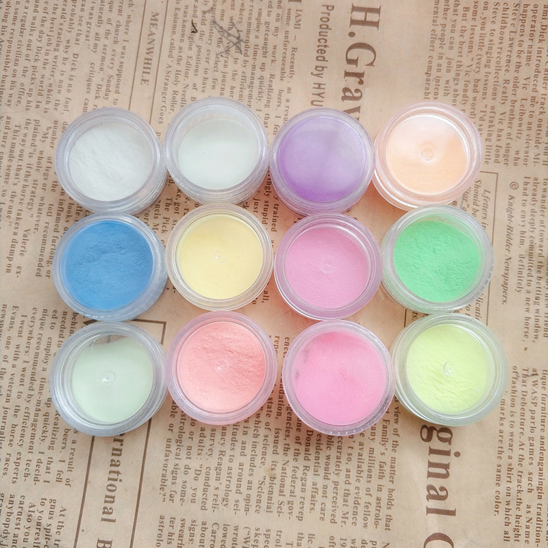 6g Fluorescent Slime Filler Powder Paint DIY Glitter Neon Phosphor Powder Pigment Nail-Glitter Powder Glow Dark Slime Supplies