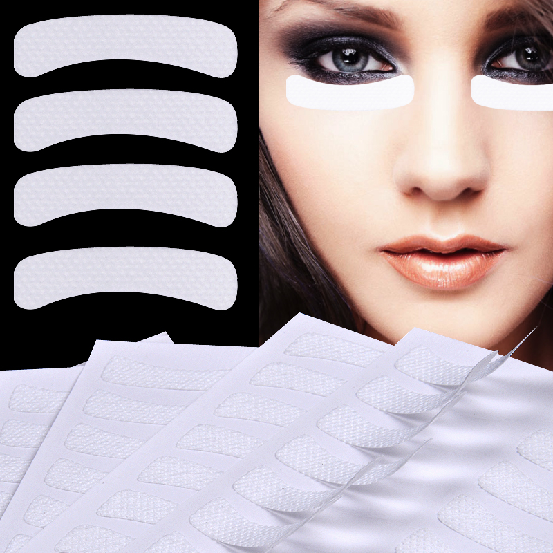 100 Pcs White Eye Eyelashes Extension Fabrics Pads Stickers Patches Adhesive Tape Makeup Beauty Tools