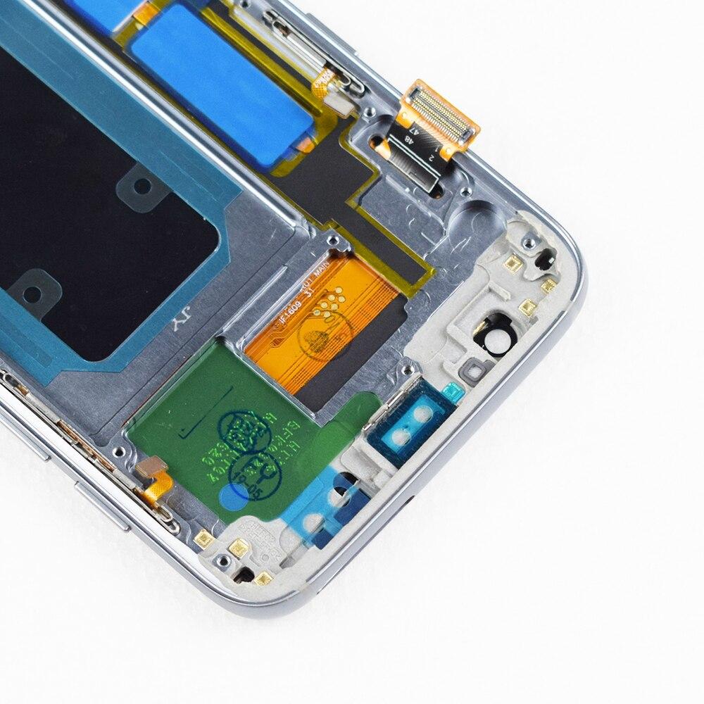 ORIGINAL 5.5 ''SUPER AMOLED LCD avec cadre pour SAMSUNG Galaxy s7 edge G935 G935F écran tactile numériseur affichage + Service Pack - 5