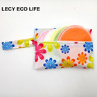 Lecy Eco Life 10pcs reusable stay dry nursing pads for new mum with 1 waterproof storage wet bag gift, soft bamboo breast pads
